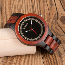 Montre Bobo Bird en bois, faite main