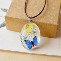 Collier pendentif bulle Nature