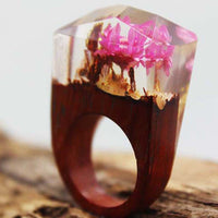 Bague Secret d'Abysses, Faite à la main en bois tropical