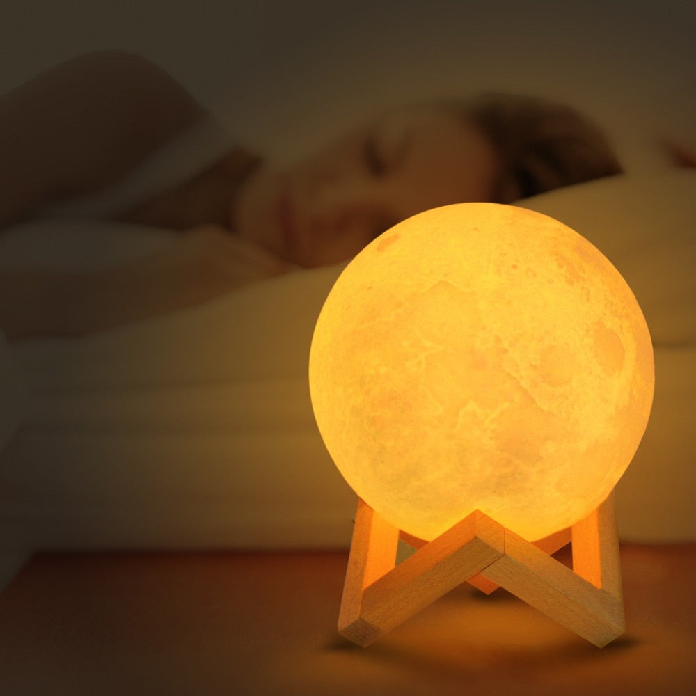 Lumineuse 3dMoon Light – Lune Natureamp; Zen WE9DI2HY