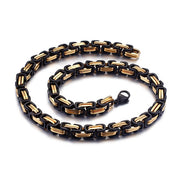 6/8mm Width Royal Box Chain Stainless Steel Necklace