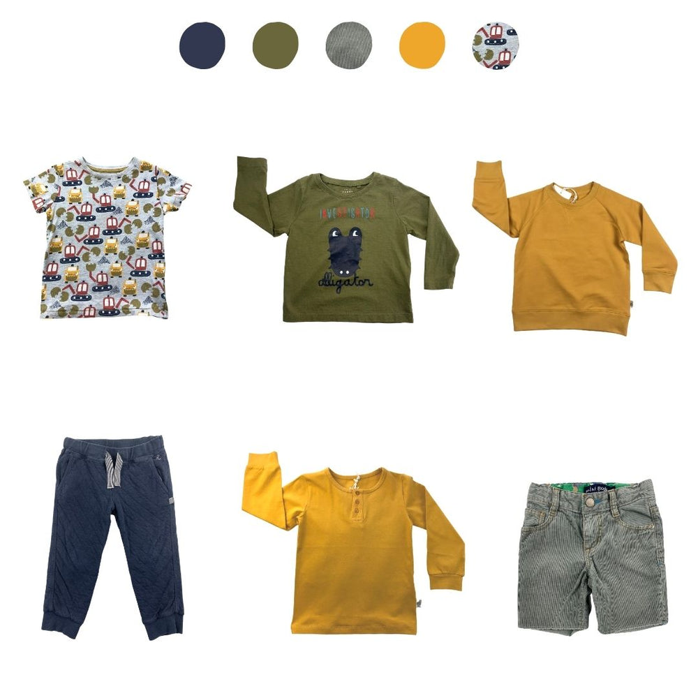 'They Thrive Like Wildflowers' 6 piece Capsule Wardrobe: 2 - 3 years