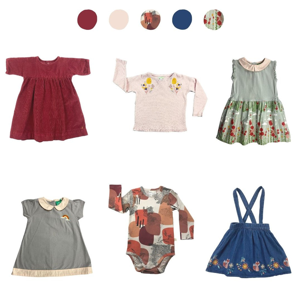 'Wild At Heart' 6 piece Capsule Wardrobe: 2 - 3 years
