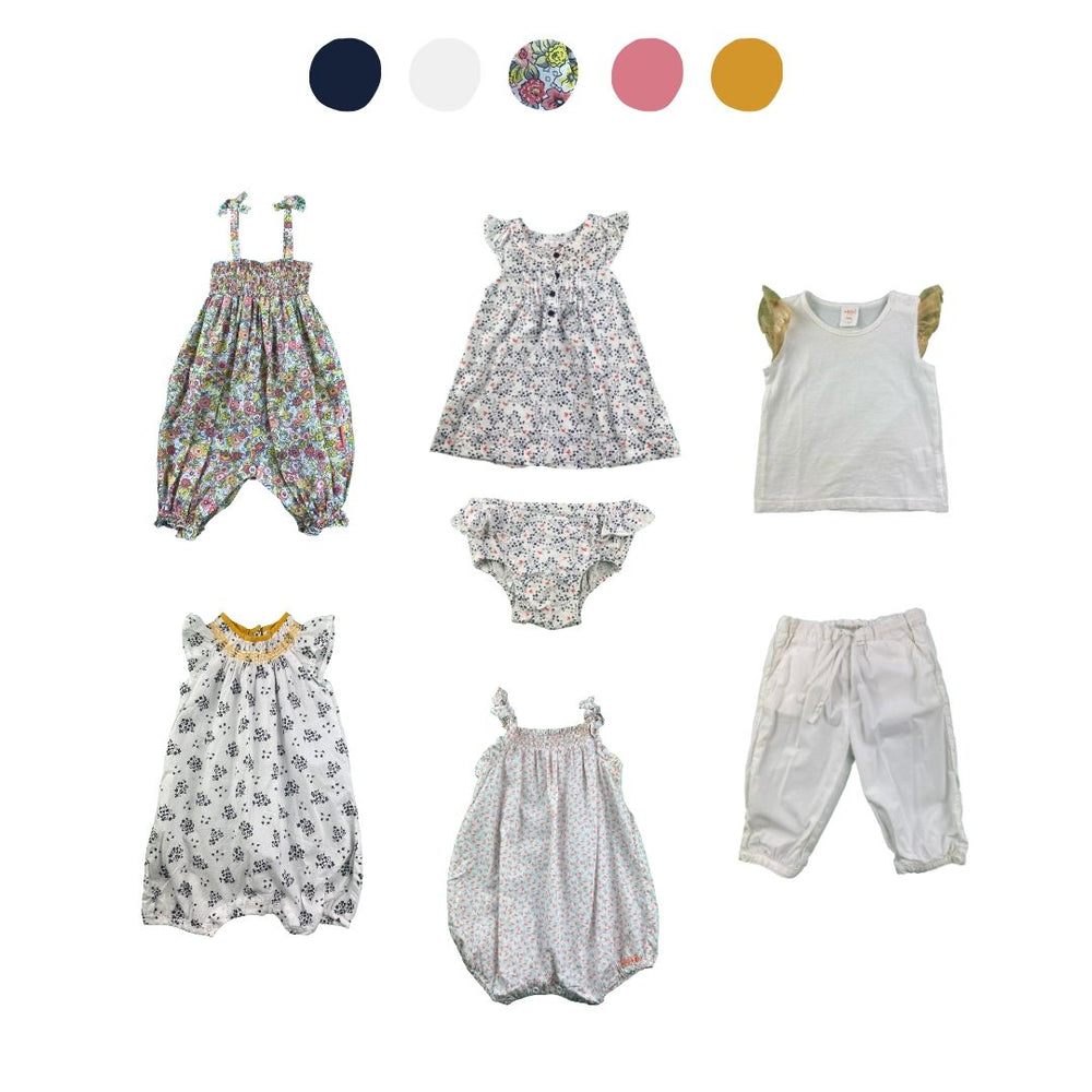 'Wild At Heart' 7 piece Capsule Wardrobe: 3 - 6 months