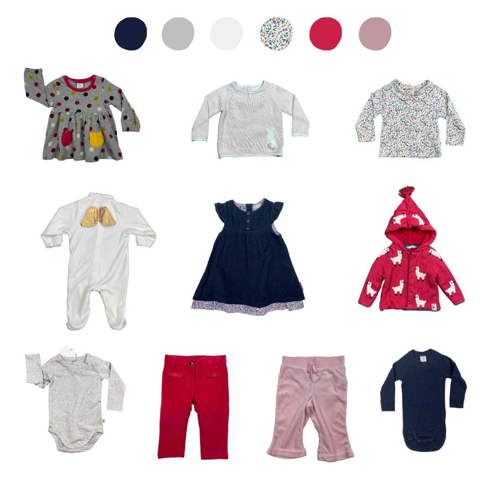 'All You Need Is Pink' 10 piece Wardrobe: 6 - 12 months
