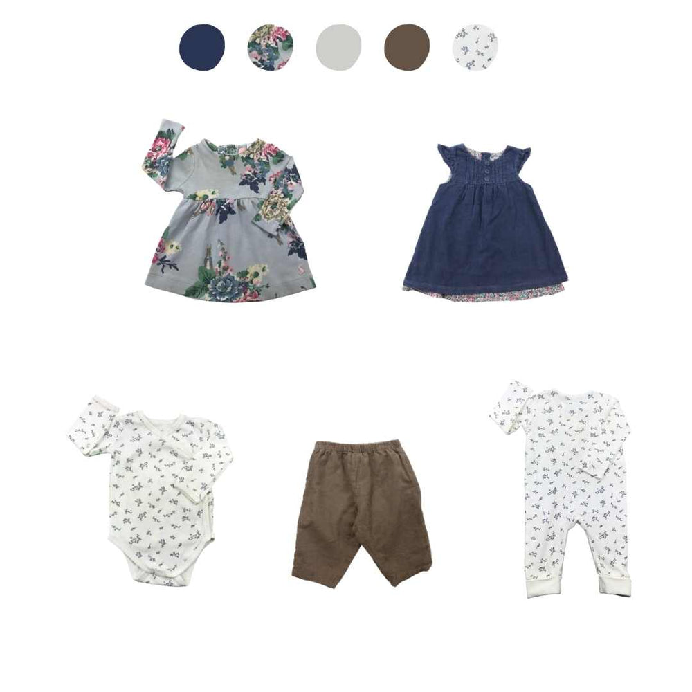 'Wild At Heart' 5 piece Capsule Wardrobe: 3 - 6 months