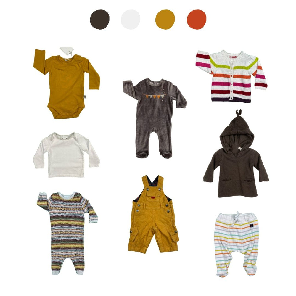 'They Thrive Like Wildflowers' 8 piece Wardrobe: 3 - 6 months