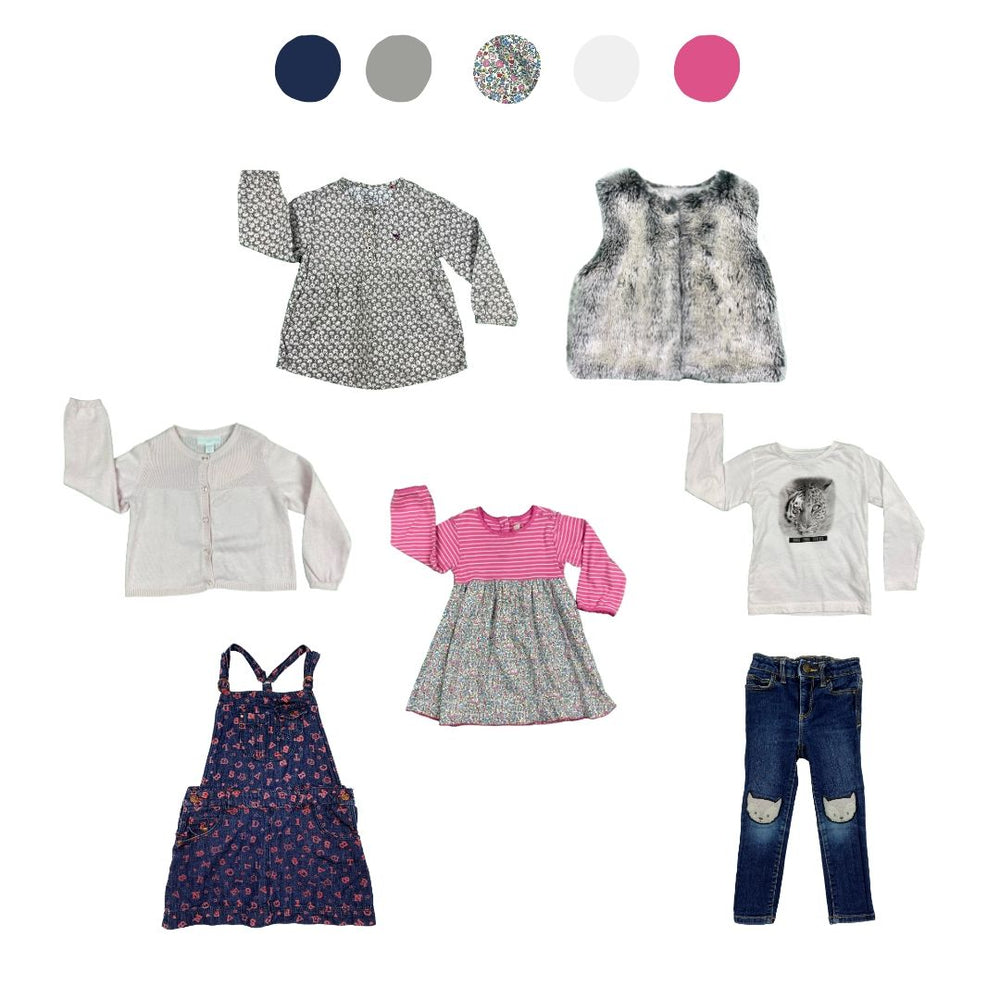 'All You Need Is Pink' 7 piece Wardrobe: 2 - 3 years