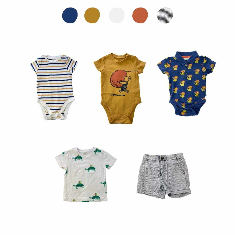 'They Thrive Like Wildflowers' 5 piece Capsule Wardrobe: 6 - 12 months
