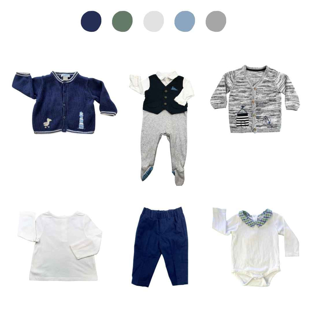 'Memories Are Made of This' 6 piece Capsule Wardrobe: 3 - 6 months
