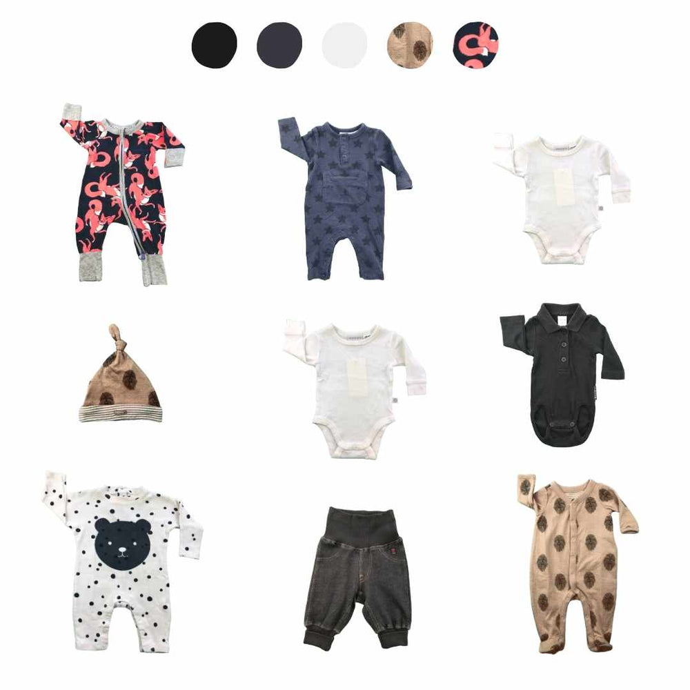'Days Are Meant For Play' 9 piece Capsule Wardrobe: Newborn