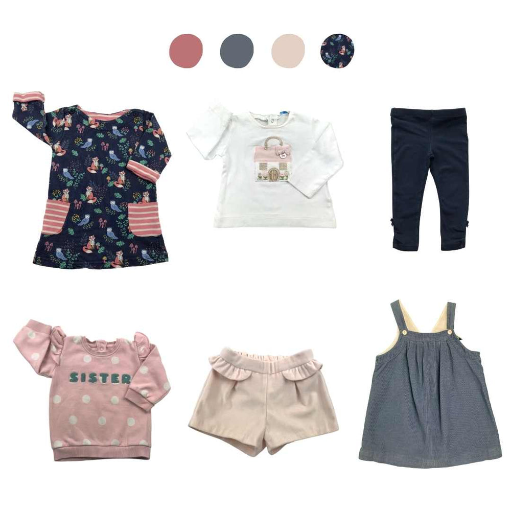 'All You Need Is Pink' 6 piece Capsule Wardrobe: 6 - 12 months
