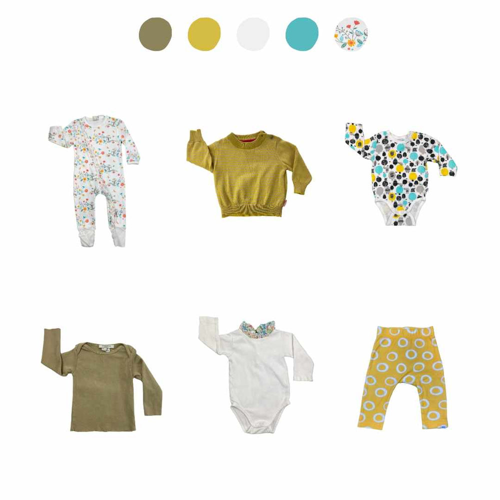 'Wild At Heart' 6 piece Capsule Wardrobe: 3 - 6 months