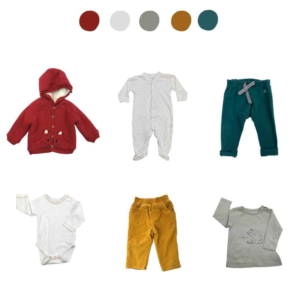 'They Thrive Like Wildflowers' 6 piece Capsule Wardrobe: 3 - 6 months