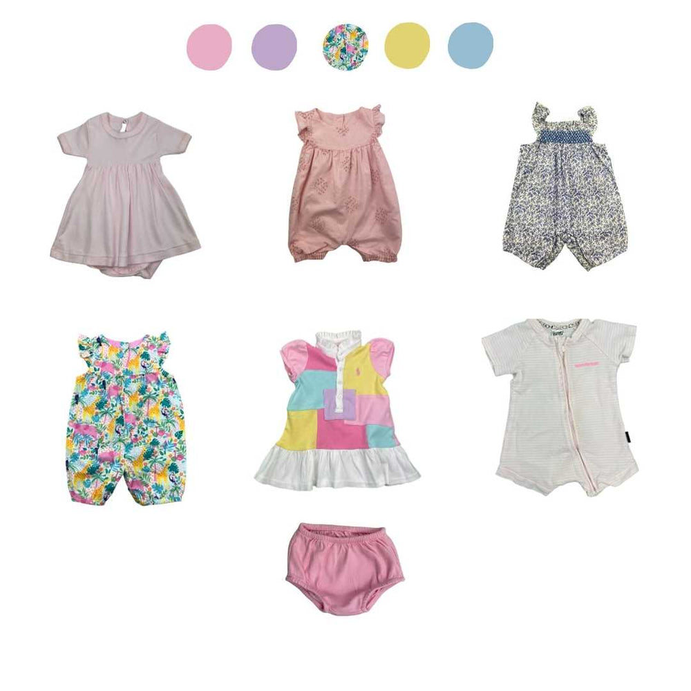 'All You Need Is Pink' 6 piece Capsule Wardrobe: 0 - 3 months