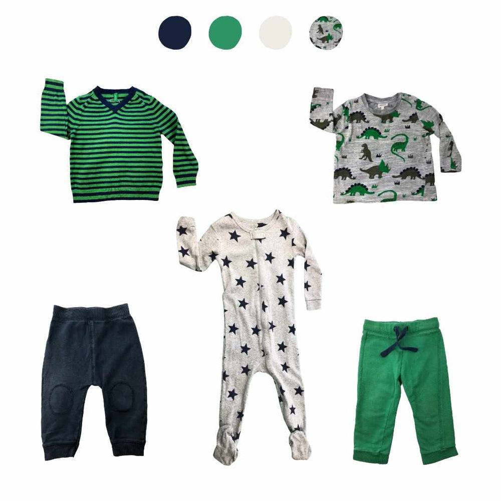 'Do You Have Anything Less...Blue?' 5 piece Capsule Wardrobe: 18 - 24 months