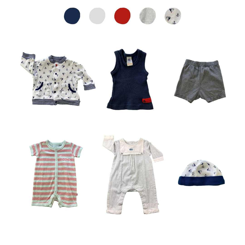 'Memories Are Made of This' 6 piece Capsule Wardrobe: 0 - 3 months