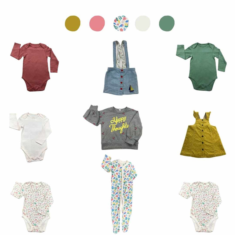 'Wild At Heart' 9 piece Capsule Wardrobe: 2 - 3 years