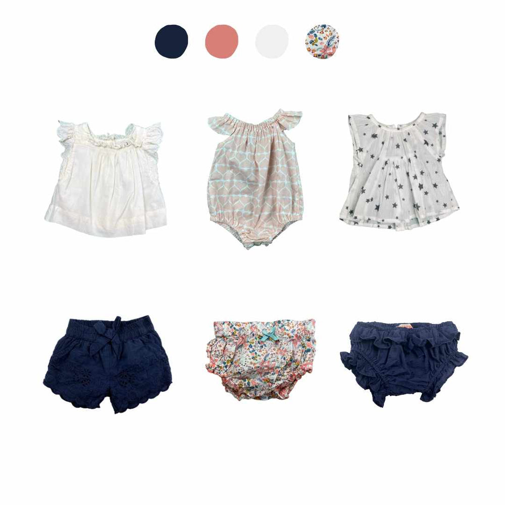 'Wild At Heart' 6 piece Capsule Wardrobe: 0 - 3 months