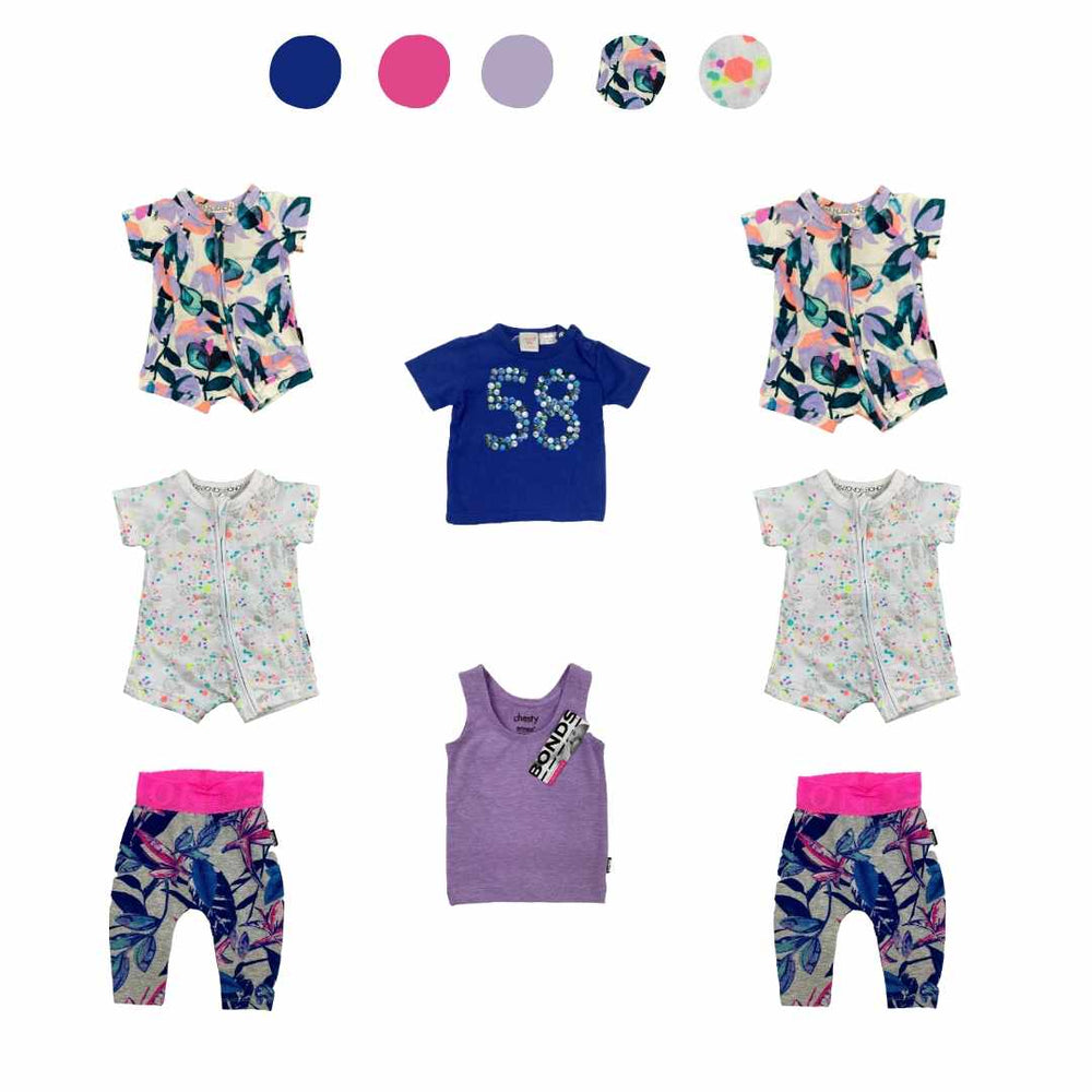 'All You Need Is Pink' 8 piece Capsule Wardrobe: 0 - 3 months
