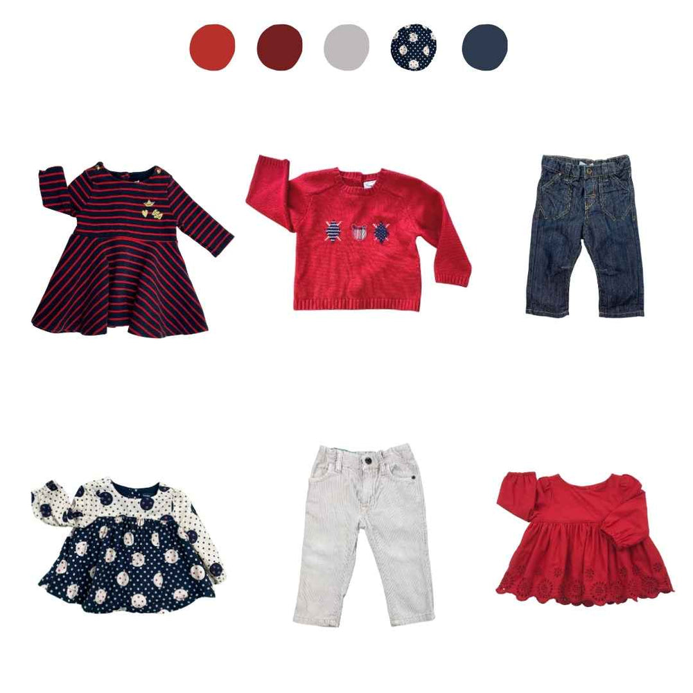 'Rainbow Splash' 6 piece Capsule Wardrobe: 3 - 6 months