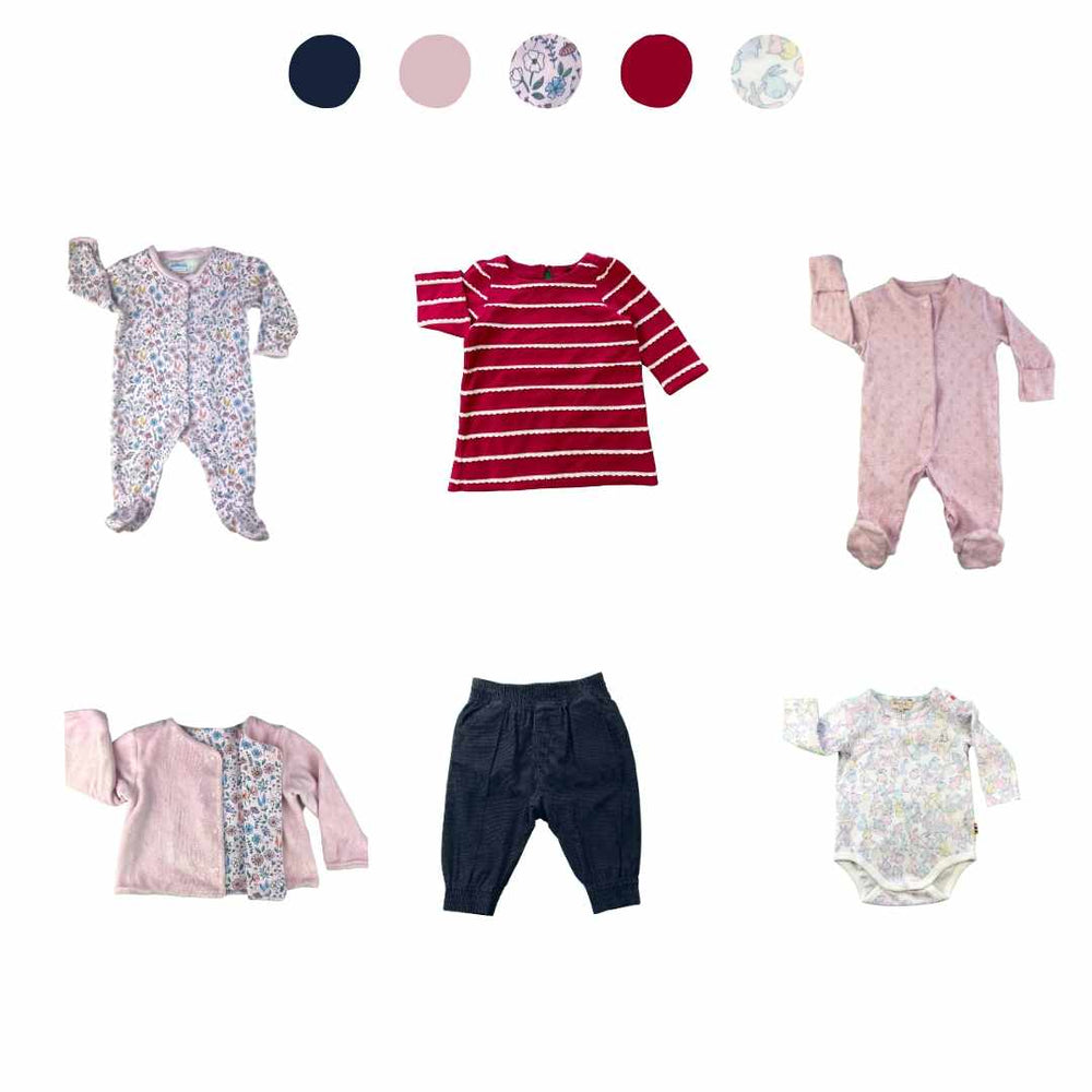 'All You Need Is Pink' 6 piece Capsule Wardrobe: 3 - 6 months