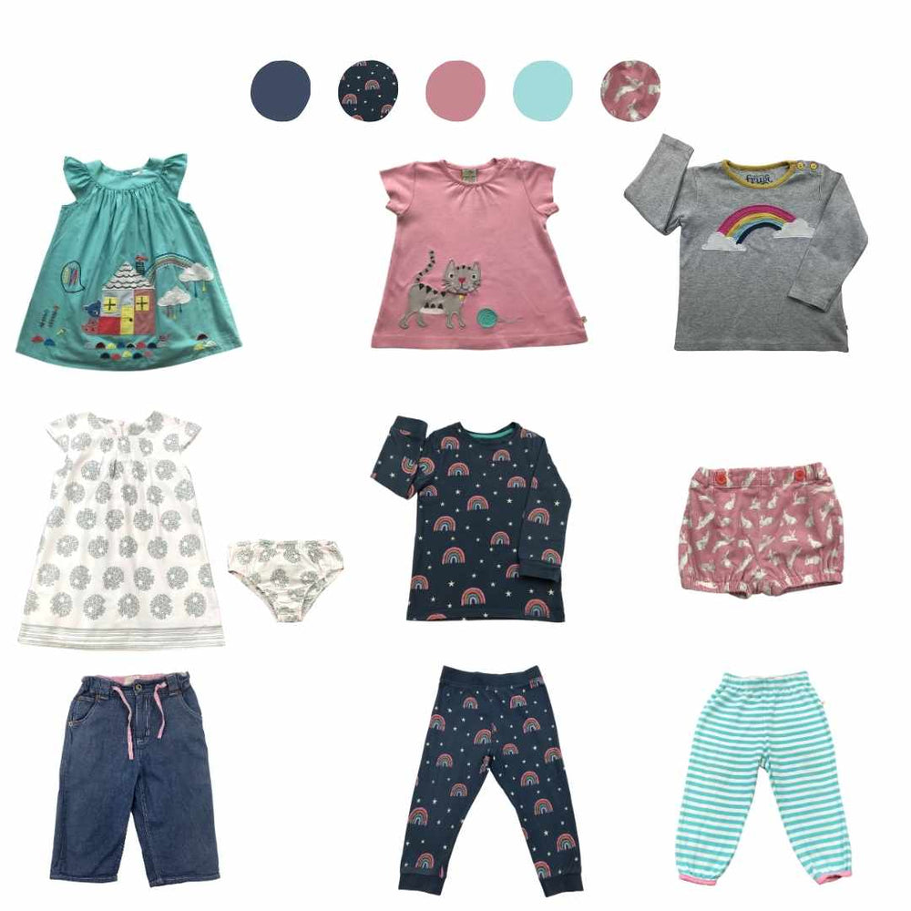 'All You Need Is Pink' 9 piece Capsule Wardrobe: 18 - 24 months