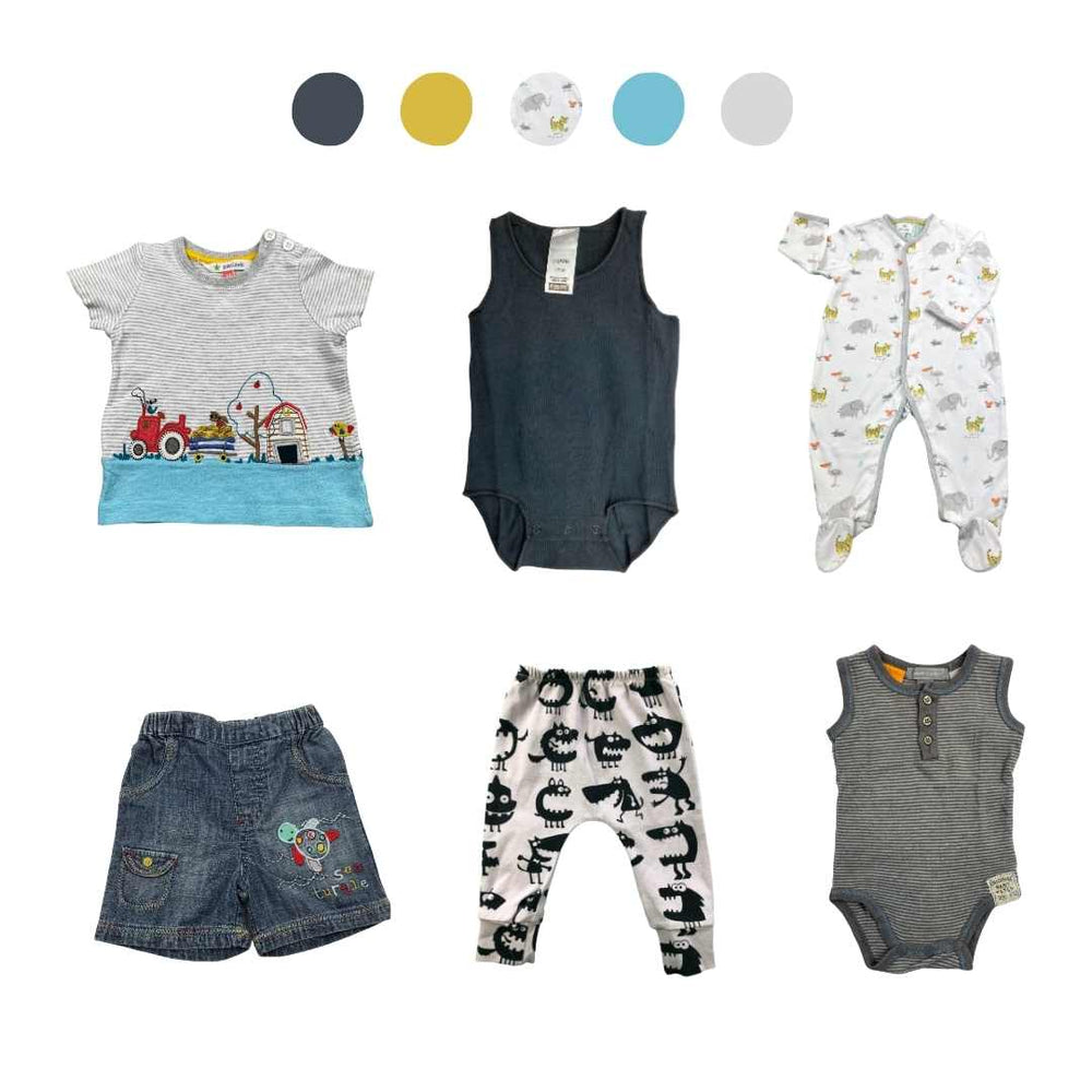 'Days Are Meant For Play' 6 piece Capsule Wardrobe: 0 - 3 months