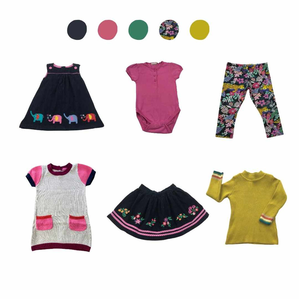 'All You Need Is Pink' 6 piece Capsule Wardrobe: 12 - 18 months
