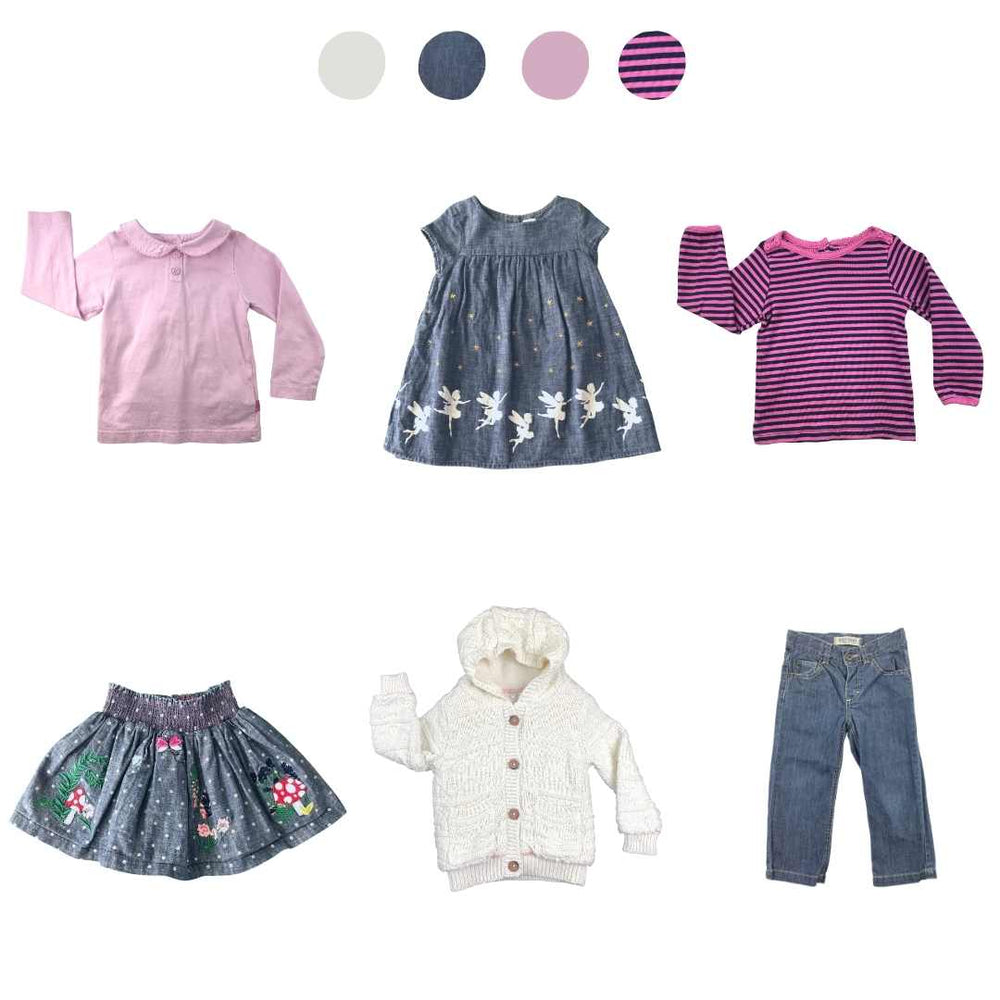'All You Need Is Pink' 6 piece Capsule Wardrobe: 18 - 24 months