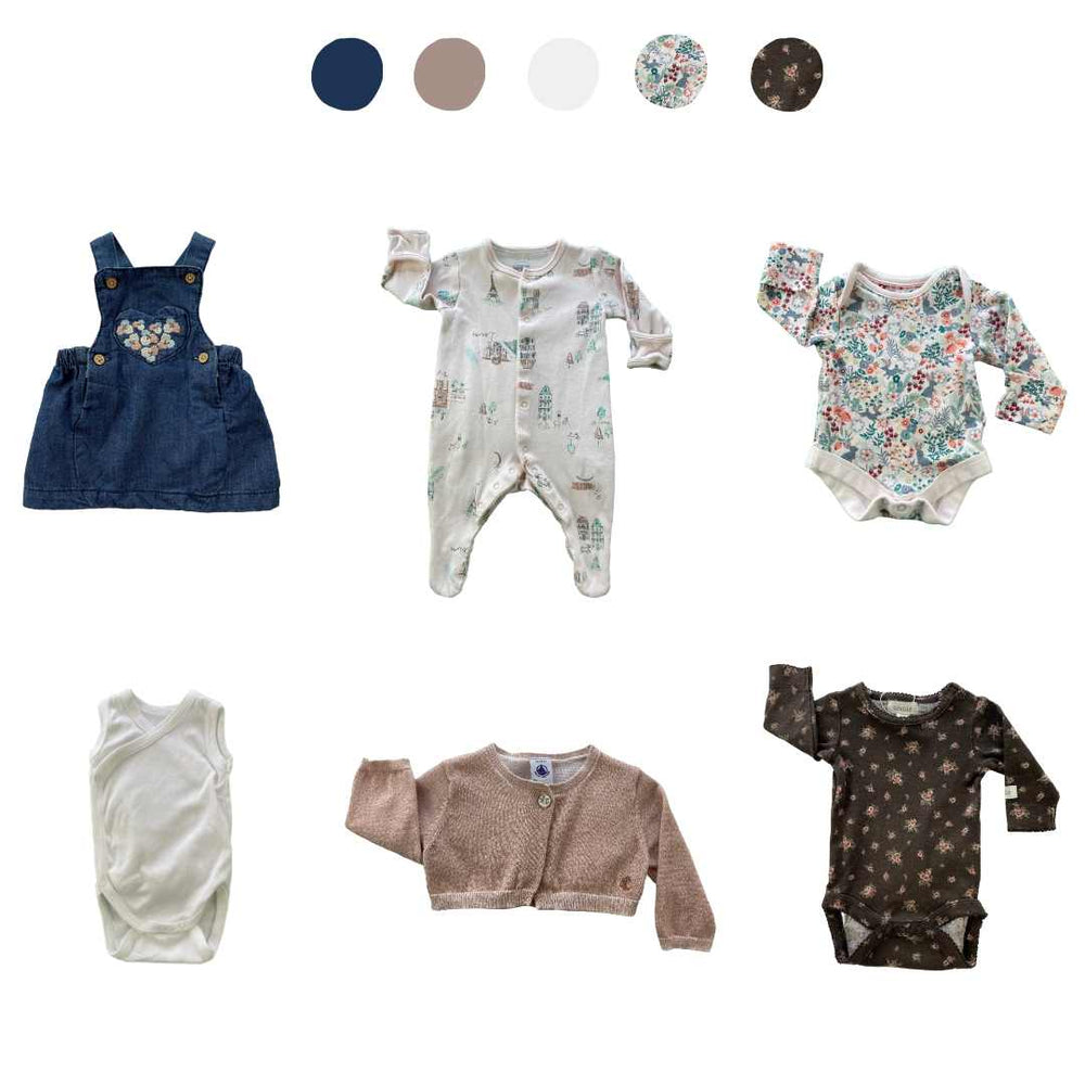 'Wild At Heart' 6 piece Capsule Wardrobe: Newborn