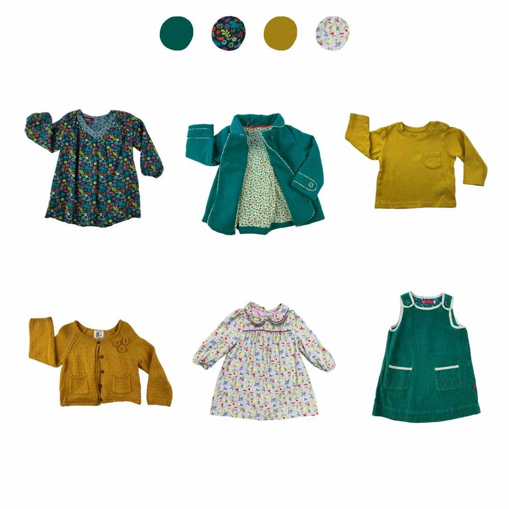 'Rainbow Splash' 6 piece Capsule Wardrobe: 12 - 18 months