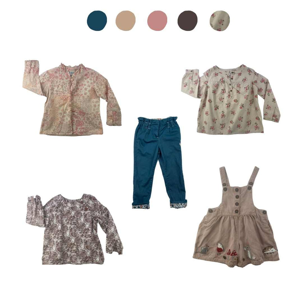 'Wild At Heart' 5 piece Capsule Wardrobe: 2 - 3 years