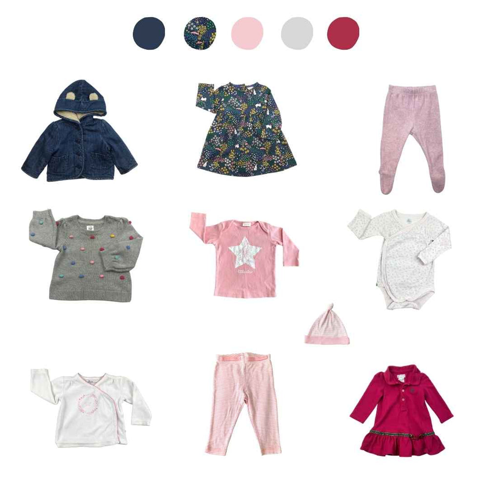 'All You Need Is Pink' 10 piece Capsule Wardrobe: 3 - 6 months