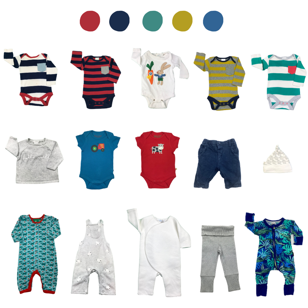 'Never Met a Colour I Didn't Like' 15 piece Capsule Wardrobe: Newborn
