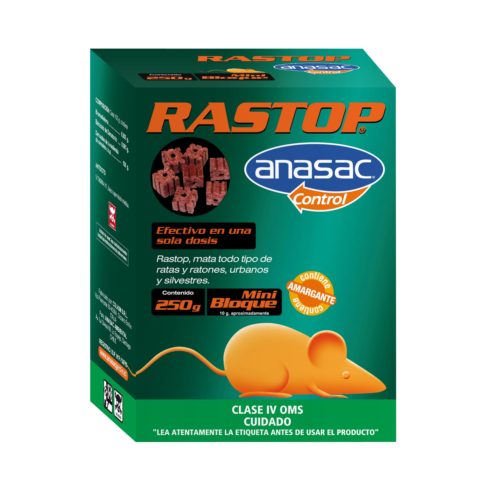 Rastop Mini Bloque 250 Grs.