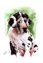 A Great Dane Puppy- by Olha Okruzhko - Diamond Painting Kit