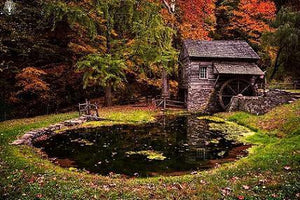 Autumn Mill - by Justin DeRosa - Diamond Painting Kit