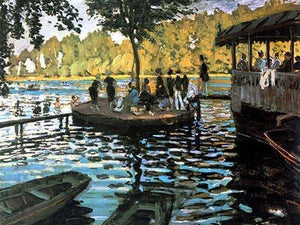 Bain a la Grenouillere - by Claude Monet - Diamond Painting Kit