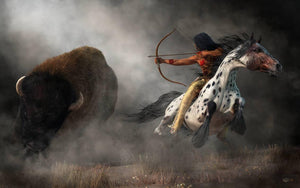 Buffalo Hunt - by Daniel Eskridge - Diamond Painting Kit