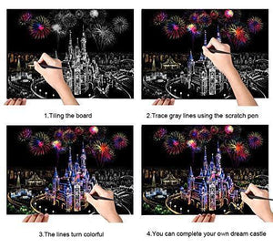 Castle of Dreams - Scratch Art - Diamond Painting Kit
