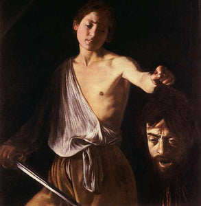 David with the Head of Goliath - by Caravaggio - Diamond Painting Kit