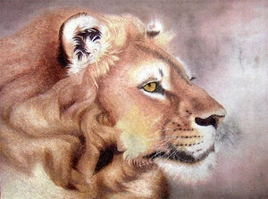 East African Lion - Diamond Painting Kit