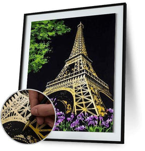Eiffel tower - Scratch Art - Special Offer 5DArtist