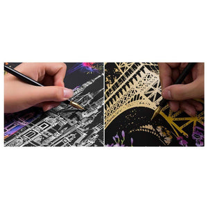 Eiffel tower - Scratch Art - Special Offer - Diamond Painting Kit