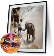 Elephant Crossing Waters 5DArtist