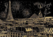 Famous Landmarks - Scratch Art - Diamond Painting Kit