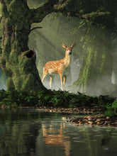 Fawn in the Forest - by Daniel Eskridge - Diamond Painting Kit
