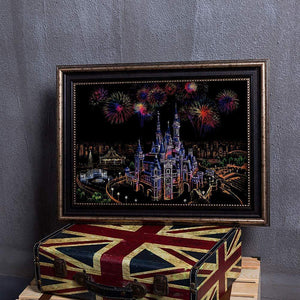 Fire Fly Sky - Scratch Art - Special Offer - Diamond Painting Kit