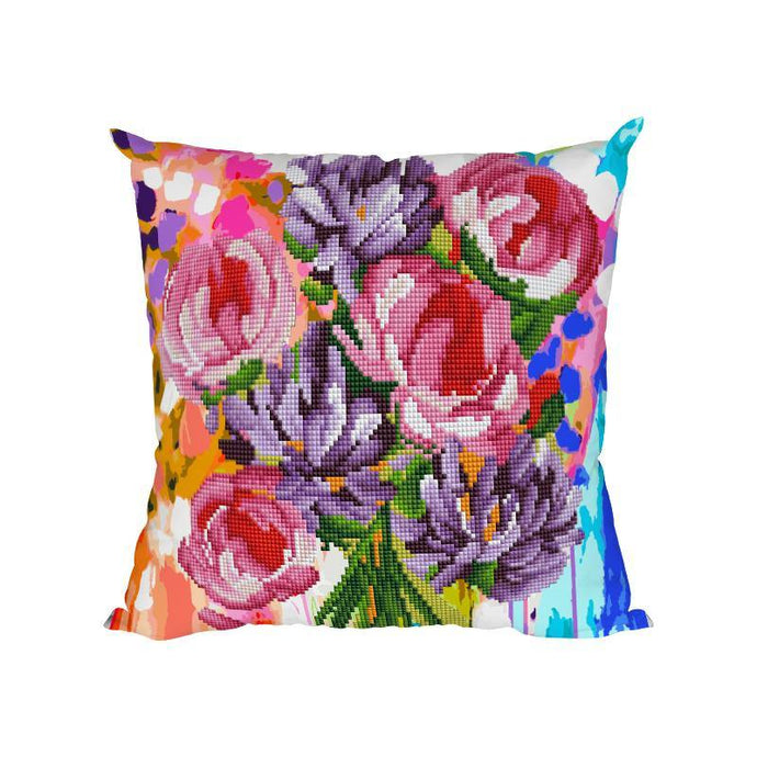 Flowers - Diamond Painting Cushion Cover - Diamond Painting Kit